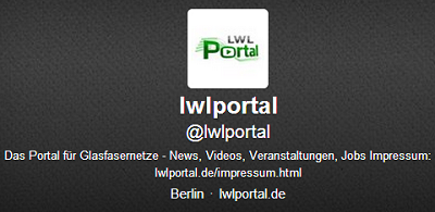 Das LWL Portal Profil bei Twitter