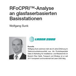 RFoCPRI™-Analyse an glasfaserbasierten Basisstationen