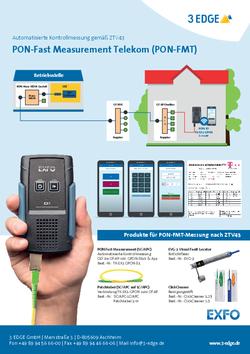 Messungen an Fiber-to-the-Home/Building-Netzen